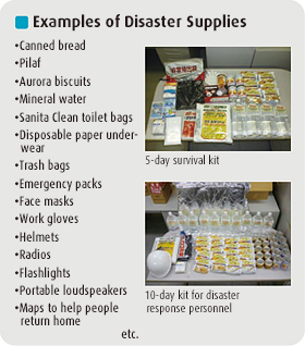 Examples of Disaster Supplies